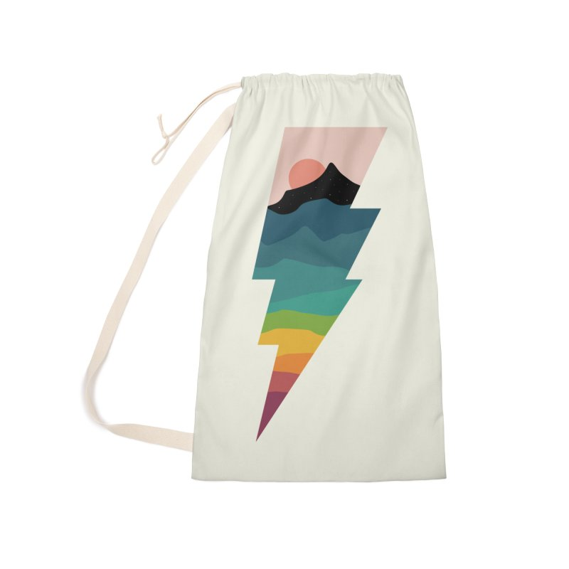 Rainbow Lightning Accessories Laundry Bag Bag by andywestface's Artist Shop