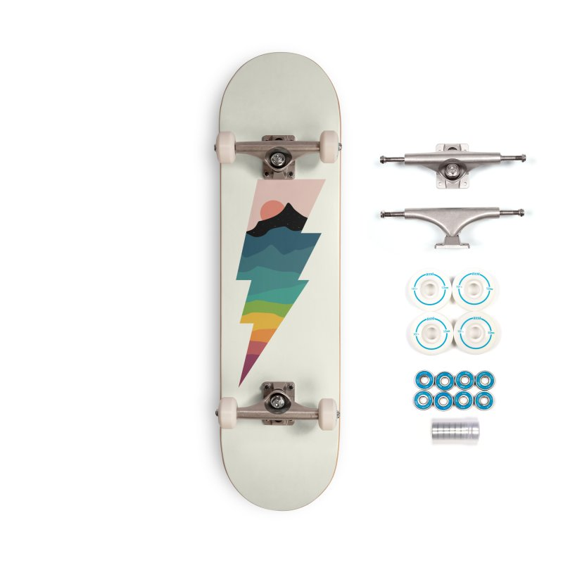 Rainbow Lightning Accessories Complete - Basic Skateboard by andywestface's Artist Shop