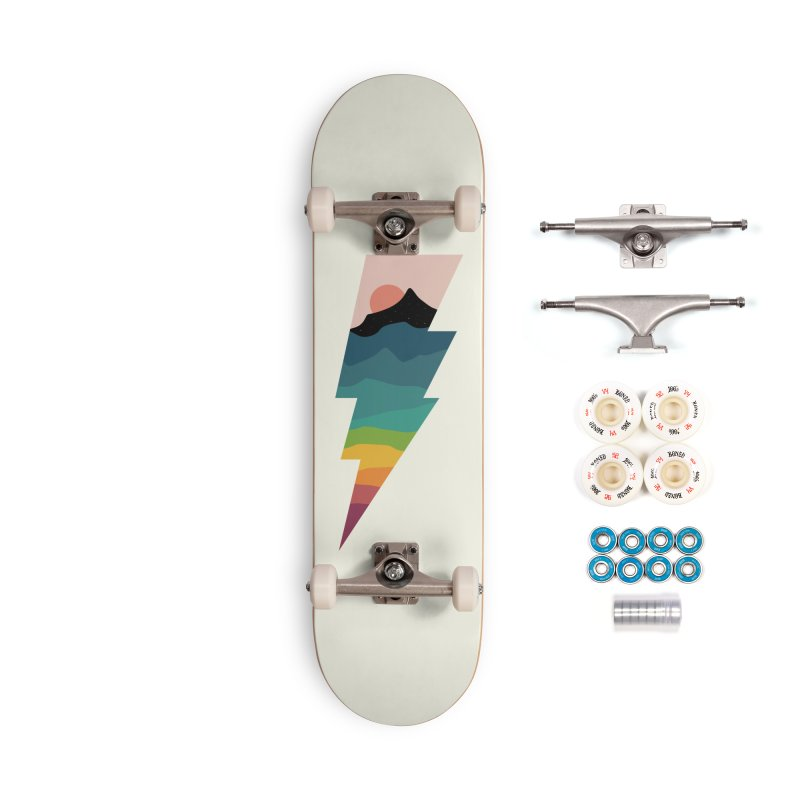 Rainbow Lightning Accessories Complete - Premium Skateboard by andywestface's Artist Shop