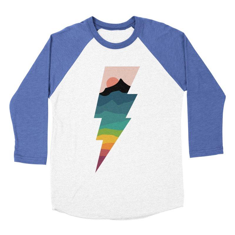 Rainbow Lightning Men's Baseball Triblend Longsleeve T-Shirt by andywestface's Artist Shop