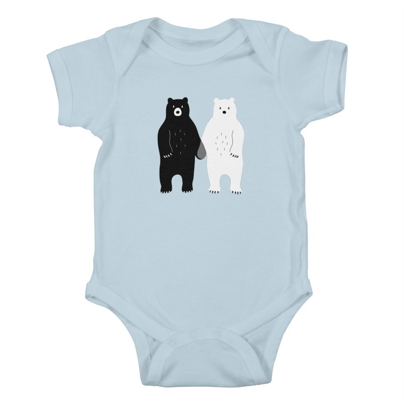 Gray Kids Baby Bodysuit by andywestface's Artist Shop