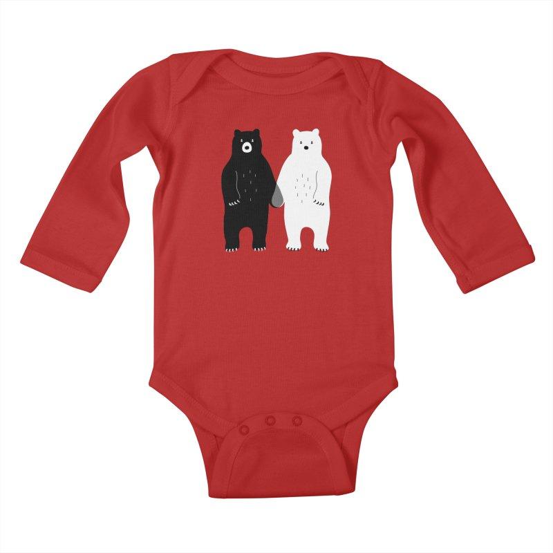 Gray Kids Baby Longsleeve Bodysuit by andywestface's Artist Shop