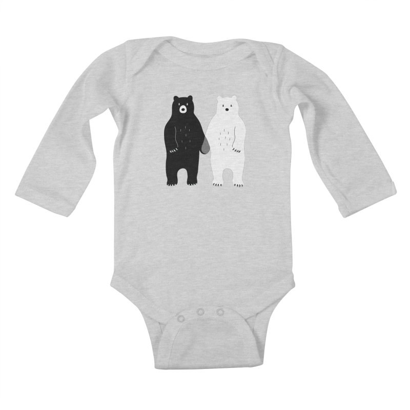 Gray Kids Baby Longsleeve Bodysuit by andywestface's Artist Shop