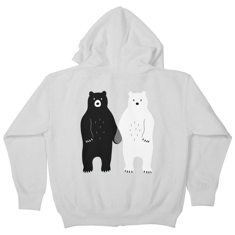Gray Kids Zip-Up Hoody by andywestface's Artist Shop
