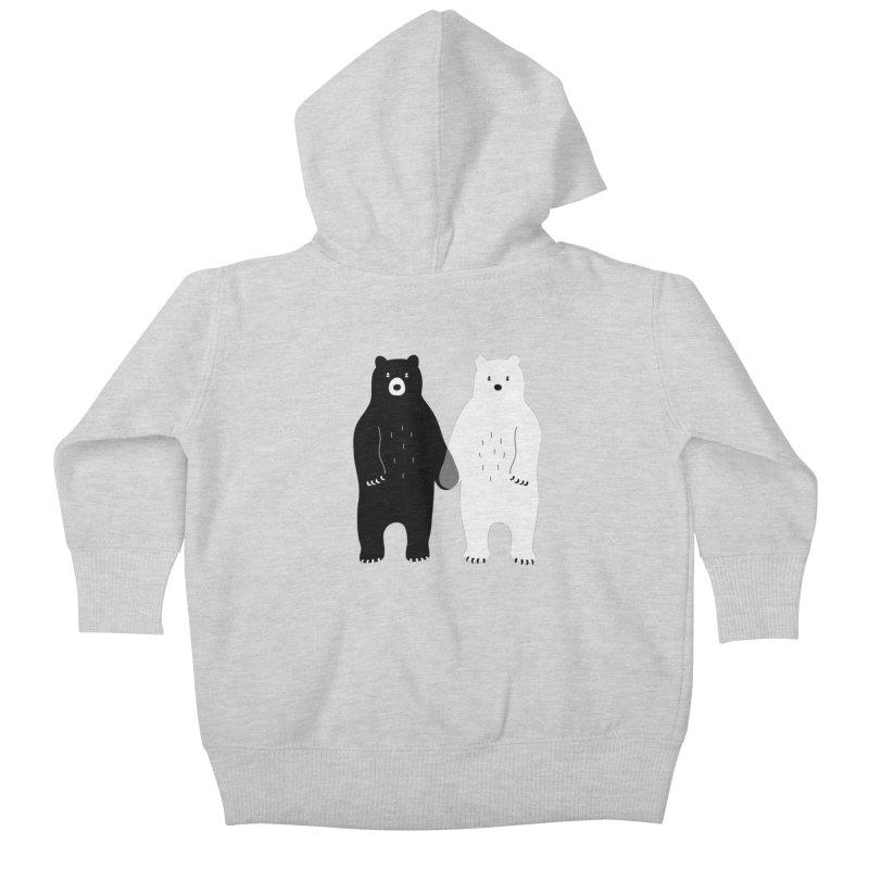 Gray Kids Baby Zip-Up Hoody by andywestface's Artist Shop