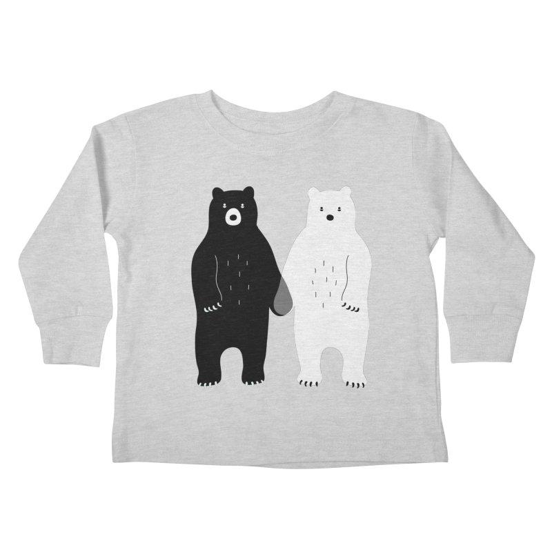 Gray Kids Toddler Longsleeve T-Shirt by andywestface's Artist Shop
