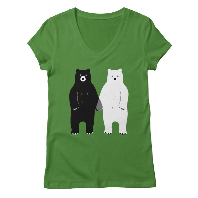 Gray Women's V-Neck by andywestface's Artist Shop