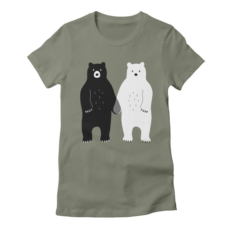 Gray Women's Fitted T-Shirt by andywestface's Artist Shop