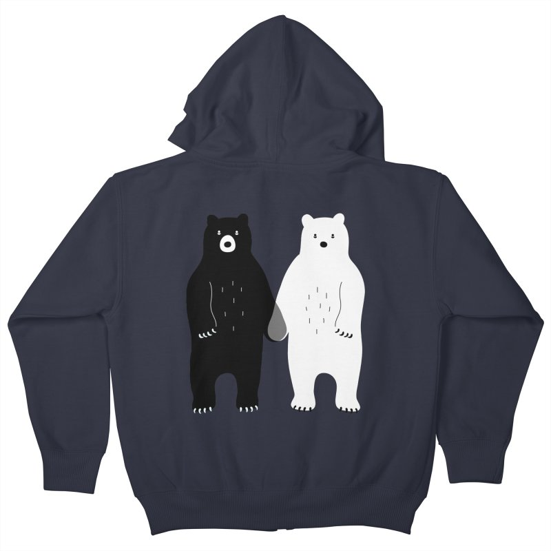 Gray Kids Zip-Up Hoody by andywestface's Artist Shop