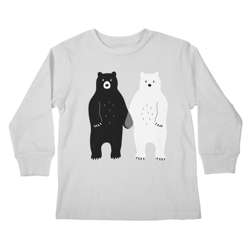 Gray Kids Longsleeve T-Shirt by andywestface's Artist Shop