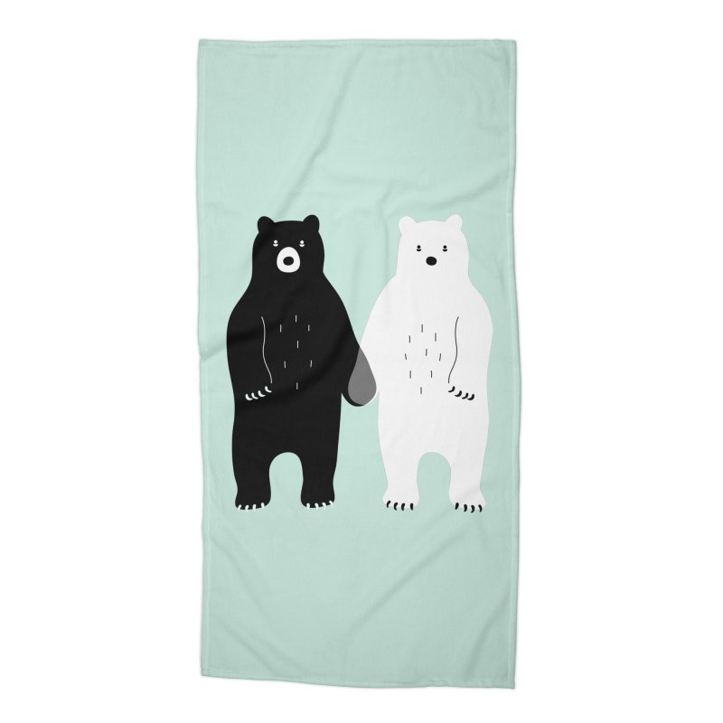 Gray Accessories Beach Towel by andywestface's Artist Shop