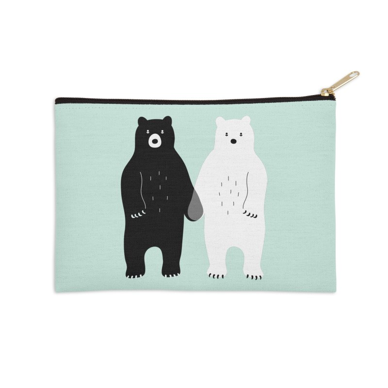Gray Accessories Zip Pouch by andywestface's Artist Shop
