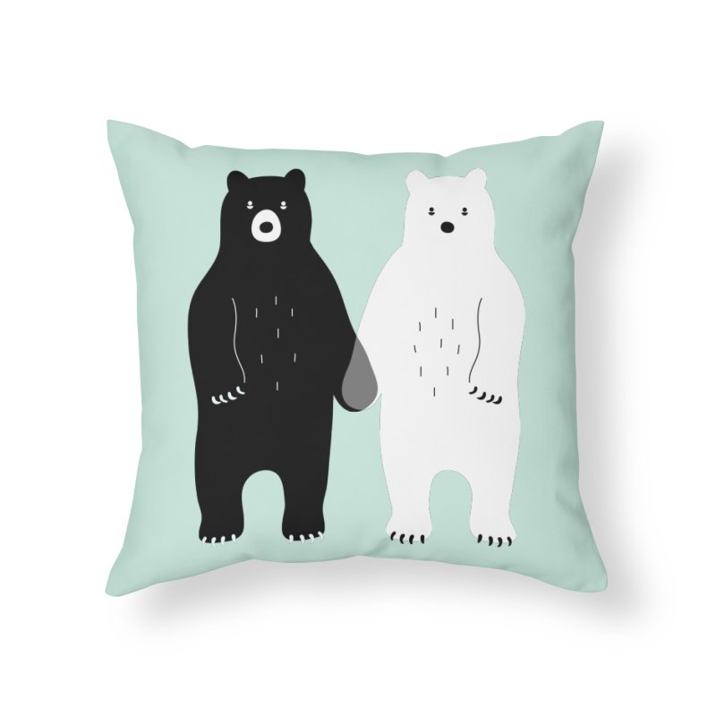 Gray Home Throw Pillow by andywestface's Artist Shop