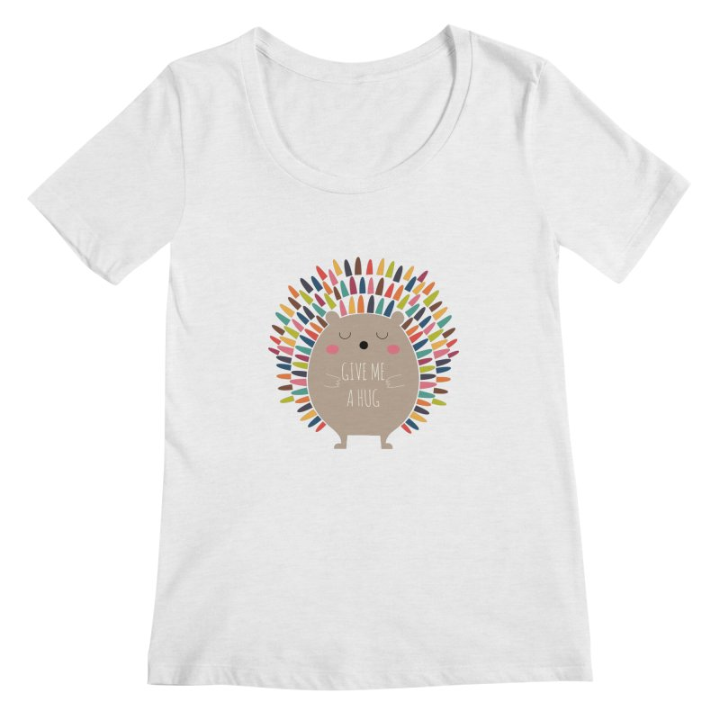 Give Me A Hug Women's Scoopneck by andywestface's Artist Shop