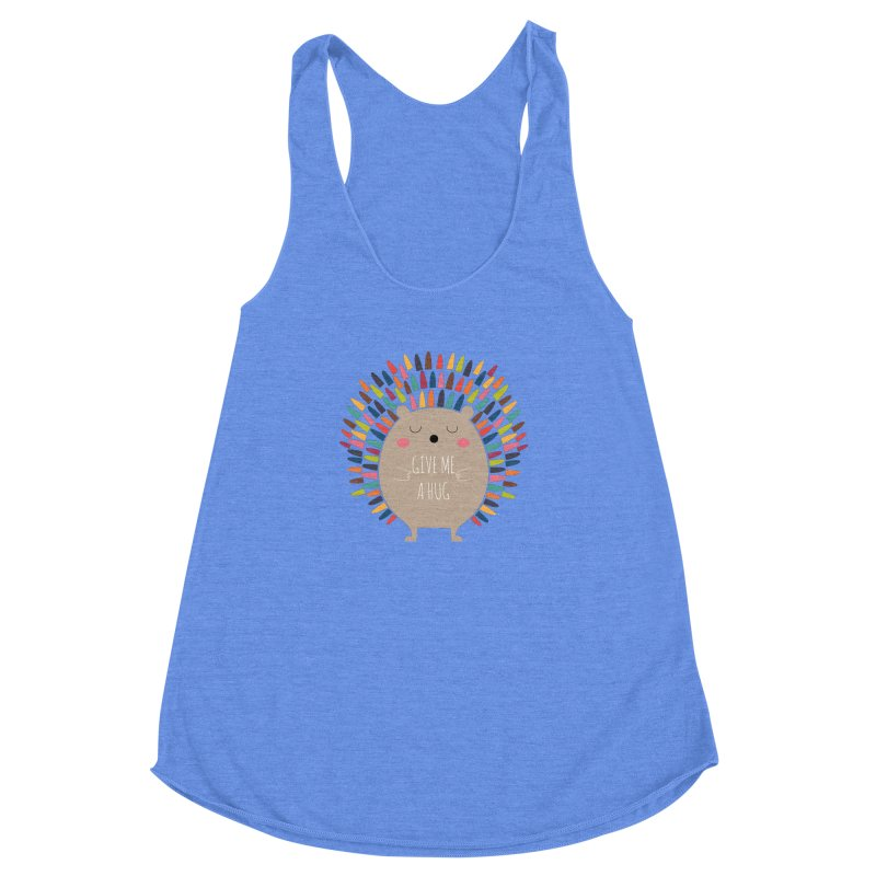 Give Me A Hug Women's Racerback Triblend Tank by andywestface's Artist Shop