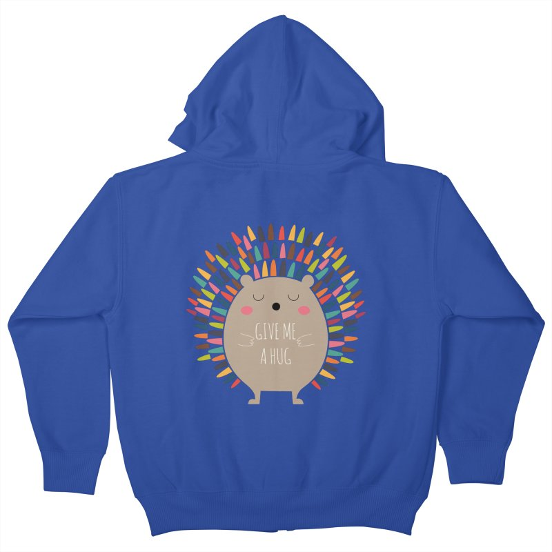 Give Me A Hug Kids Zip-Up Hoody by andywestface's Artist Shop