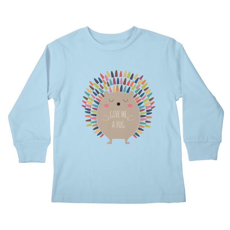 Give Me A Hug Kids Longsleeve T-Shirt by andywestface's Artist Shop