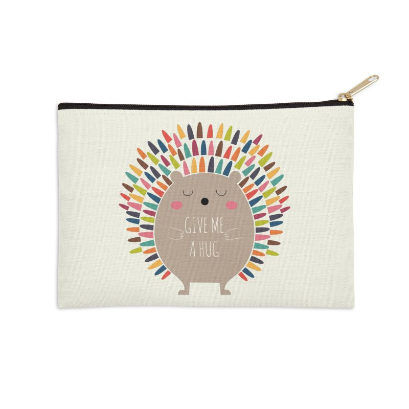 Give Me A Hug Accessories Zip Pouch by andywestface's Artist Shop