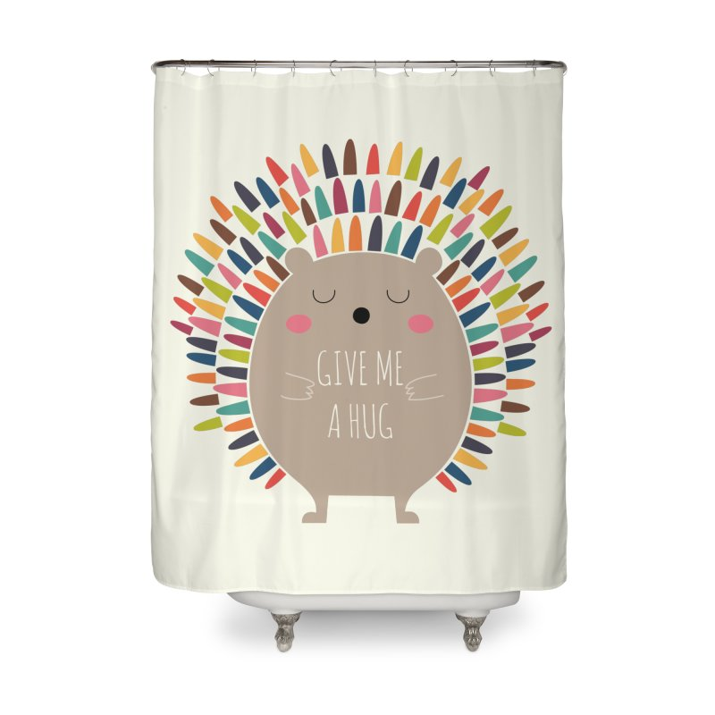 Give Me A Hug Home Shower Curtain by andywestface's Artist Shop
