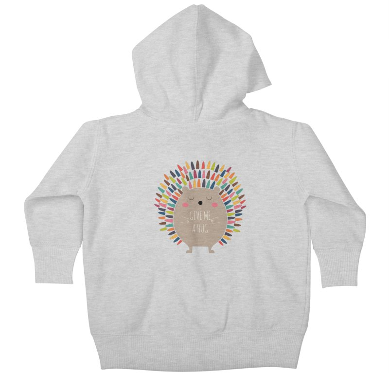 Give Me A Hug Kids Baby Zip-Up Hoody by andywestface's Artist Shop