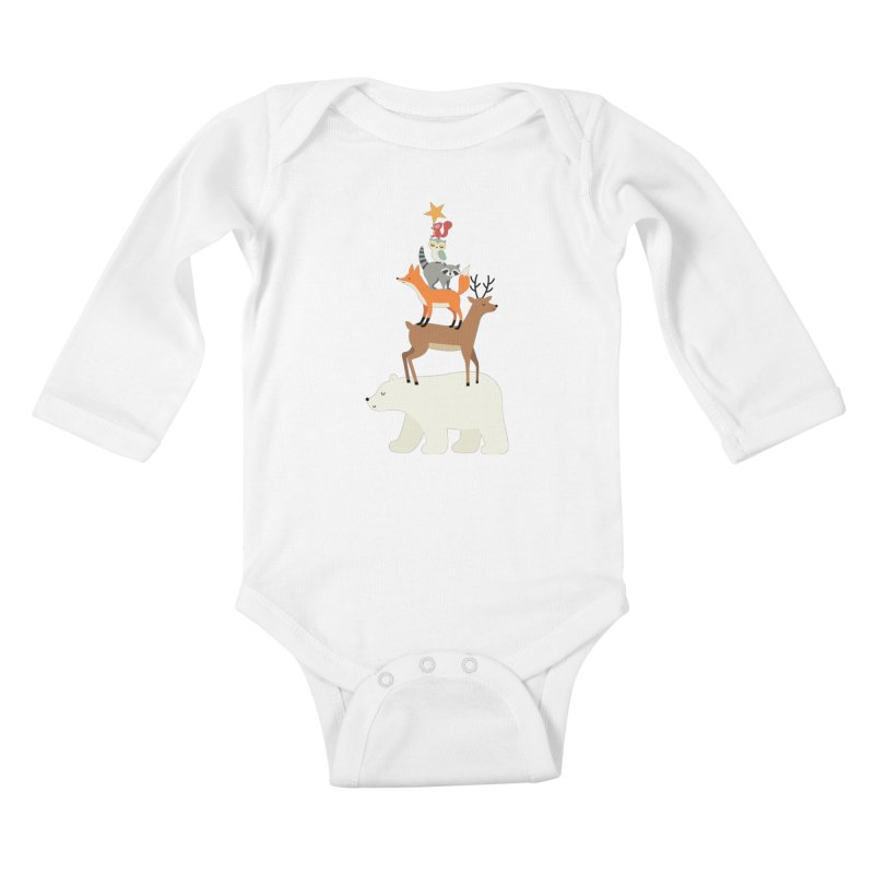 Picking Stars Kids Baby Longsleeve Bodysuit by andywestface's Artist Shop