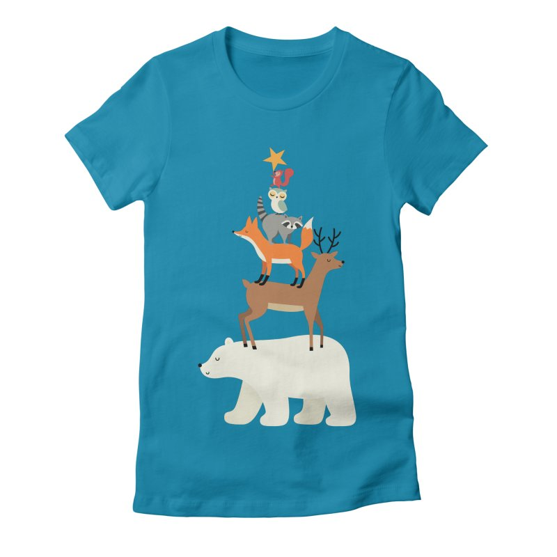 Picking Stars Women's Fitted T-Shirt by andywestface's Artist Shop