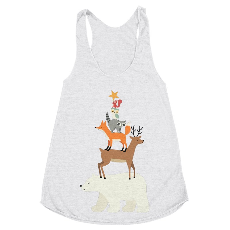 Picking Stars Women's Racerback Triblend Tank by andywestface's Artist Shop