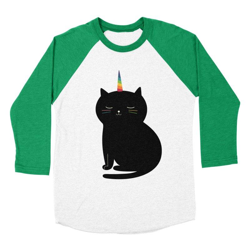 Caticorn Women's Baseball Triblend T-Shirt by andywestface's Artist Shop