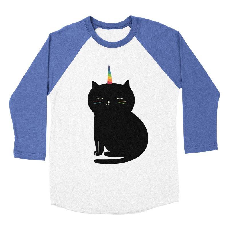 Caticorn Men's Baseball Triblend T-Shirt by andywestface's Artist Shop