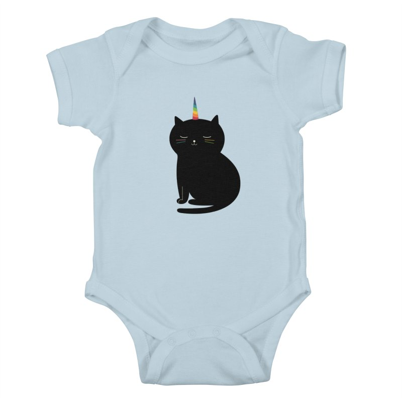 Caticorn Kids Baby Bodysuit by andywestface's Artist Shop