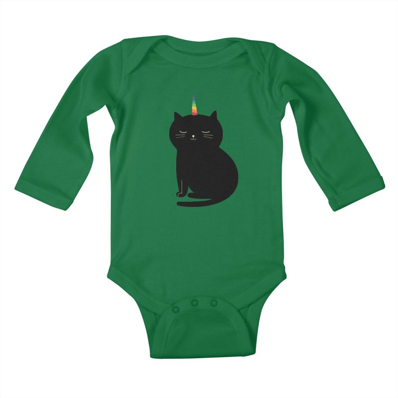 Caticorn Kids Baby Longsleeve Bodysuit by andywestface's Artist Shop