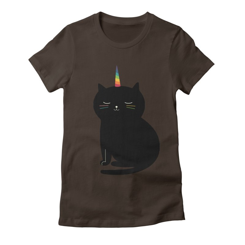 Caticorn Women's Fitted T-Shirt by andywestface's Artist Shop
