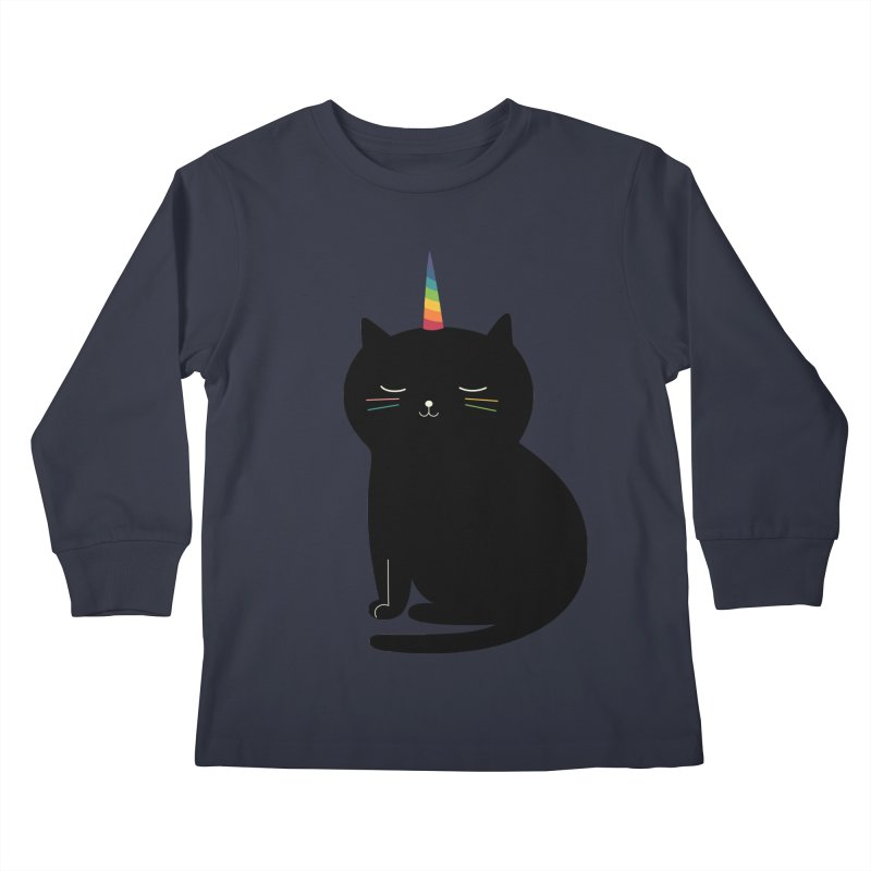 Caticorn Kids Longsleeve T-Shirt by andywestface's Artist Shop