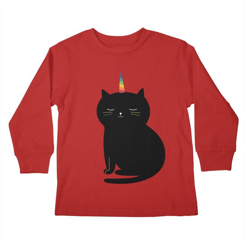 Caticorn Kids Longsleeve T-Shirt by andywestface's Artist Shop