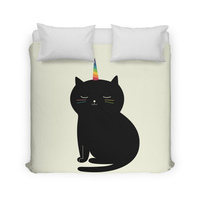 Caticorn Home Duvet by andywestface's Artist Shop