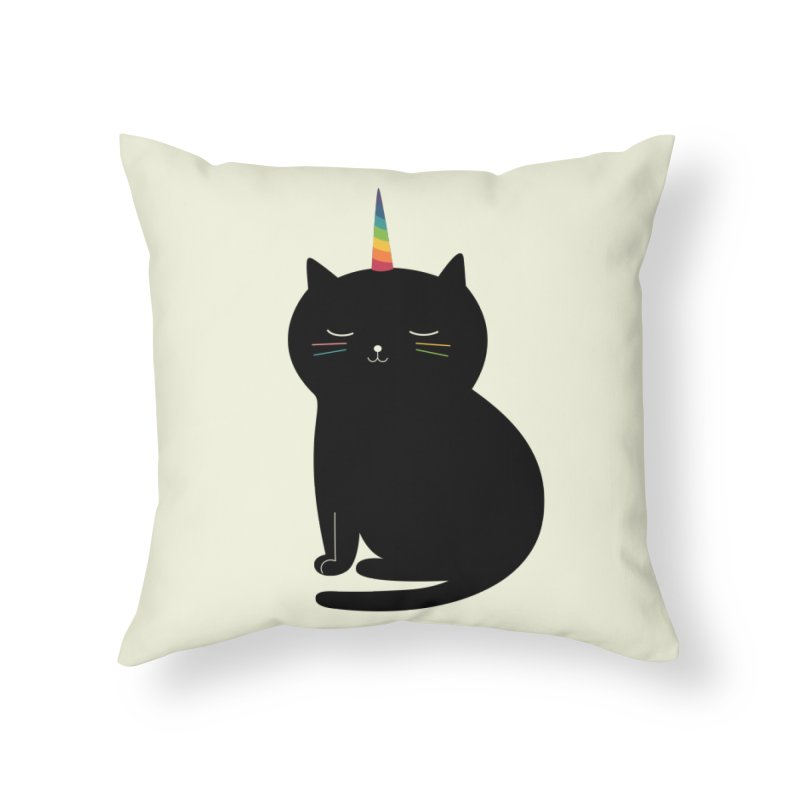 Caticorn Home Throw Pillow by andywestface's Artist Shop