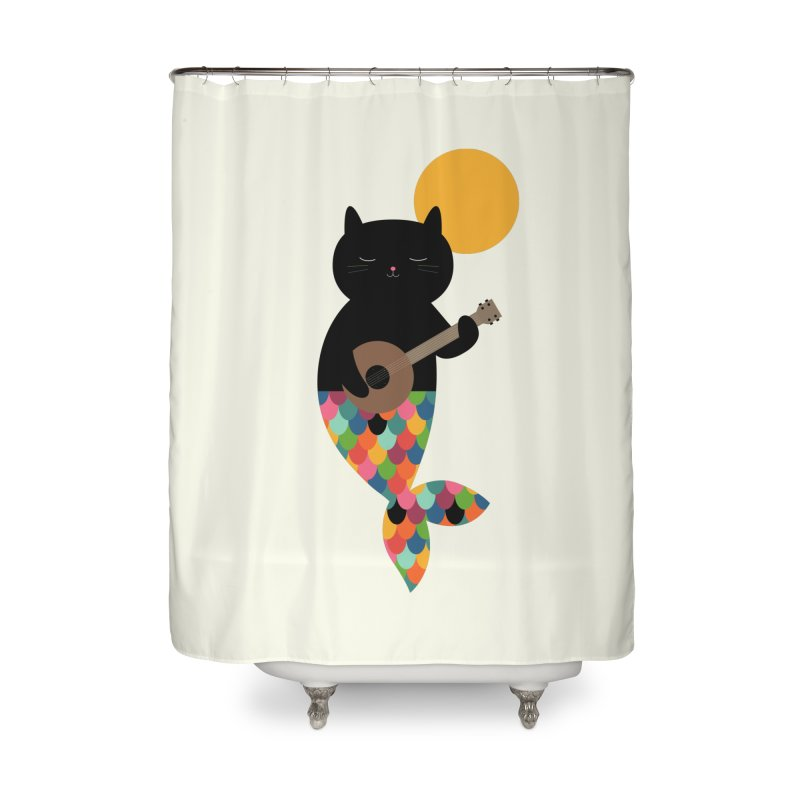 Purrmaid Home Shower Curtain by andywestface's Artist Shop
