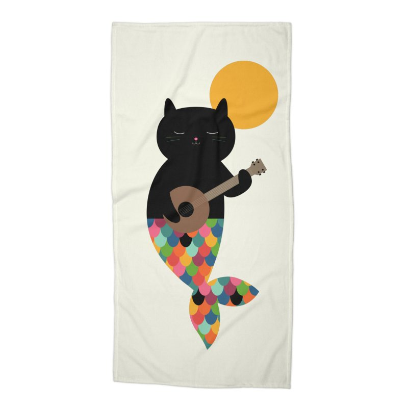 Purrmaid Accessories Beach Towel by andywestface's Artist Shop