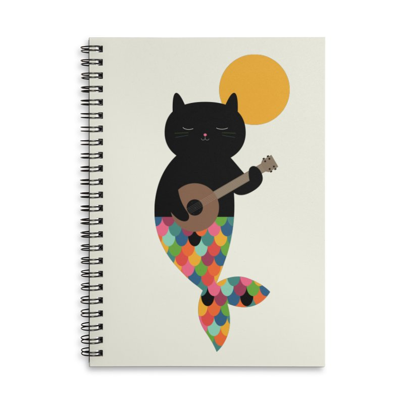 Purrmaid Accessories Lined Spiral Notebook by andywestface's Artist Shop