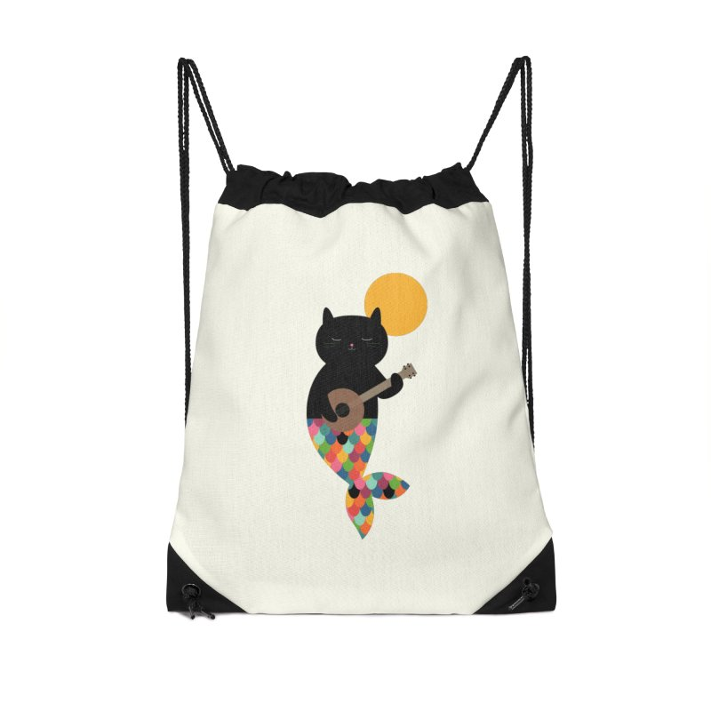 Purrmaid Accessories Drawstring Bag Bag by andywestface's Artist Shop