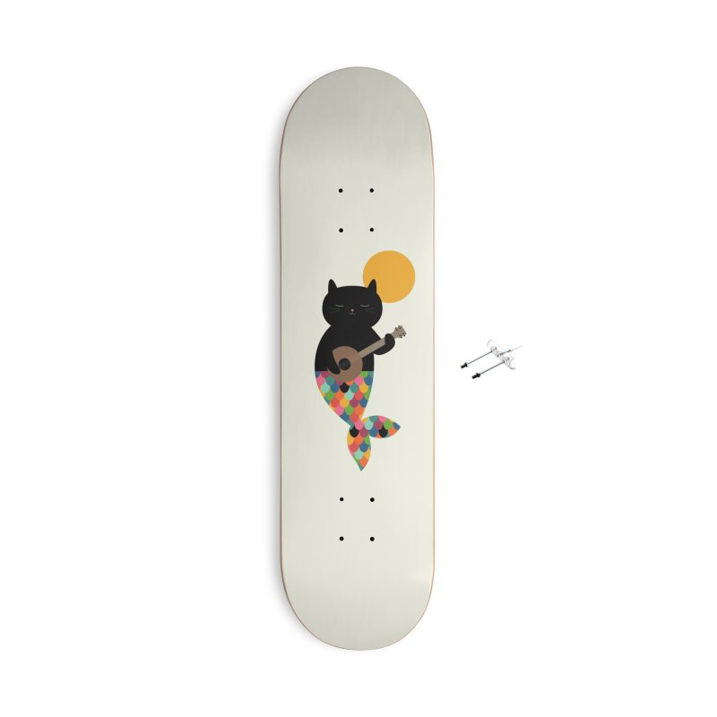 Purrmaid Accessories With Hanging Hardware Skateboard by andywestface's Artist Shop