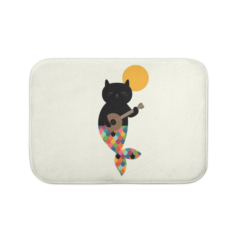 Purrmaid Home Bath Mat by andywestface's Artist Shop
