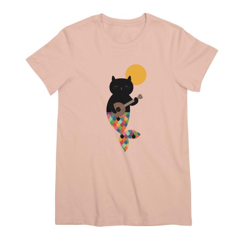 Purrmaid Women's Premium T-Shirt by andywestface's Artist Shop