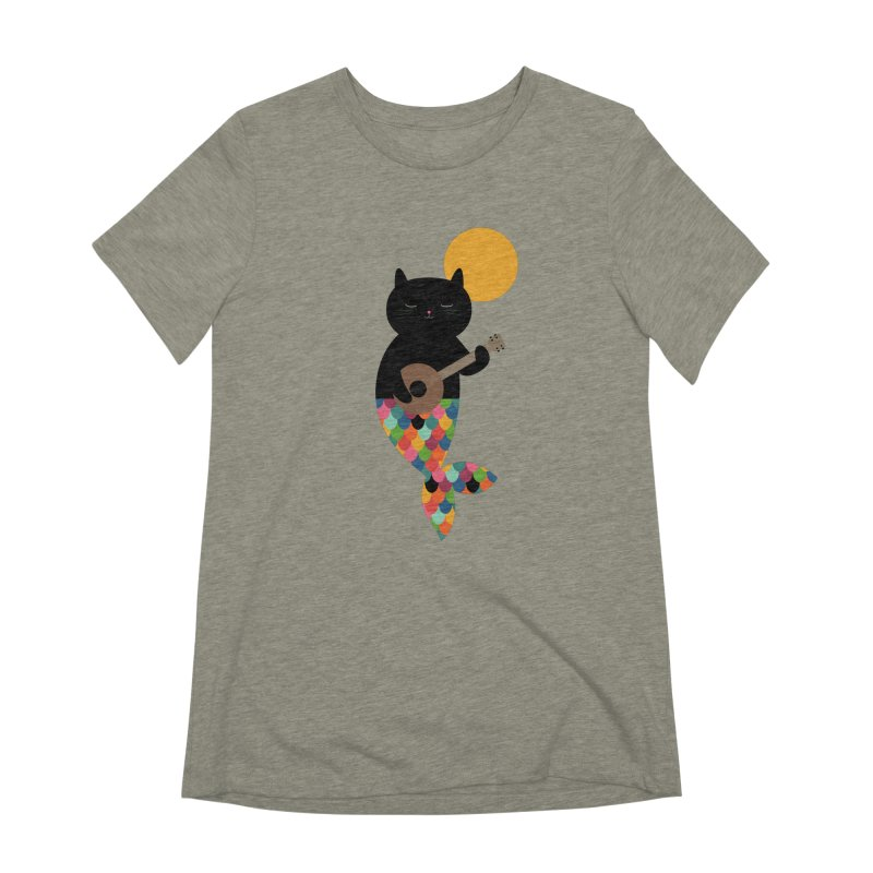 Purrmaid Women's Extra Soft T-Shirt by andywestface's Artist Shop