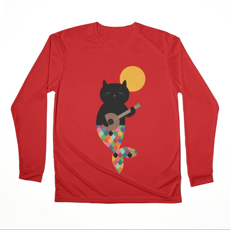 Purrmaid Women's Performance Unisex Longsleeve T-Shirt by andywestface's Artist Shop