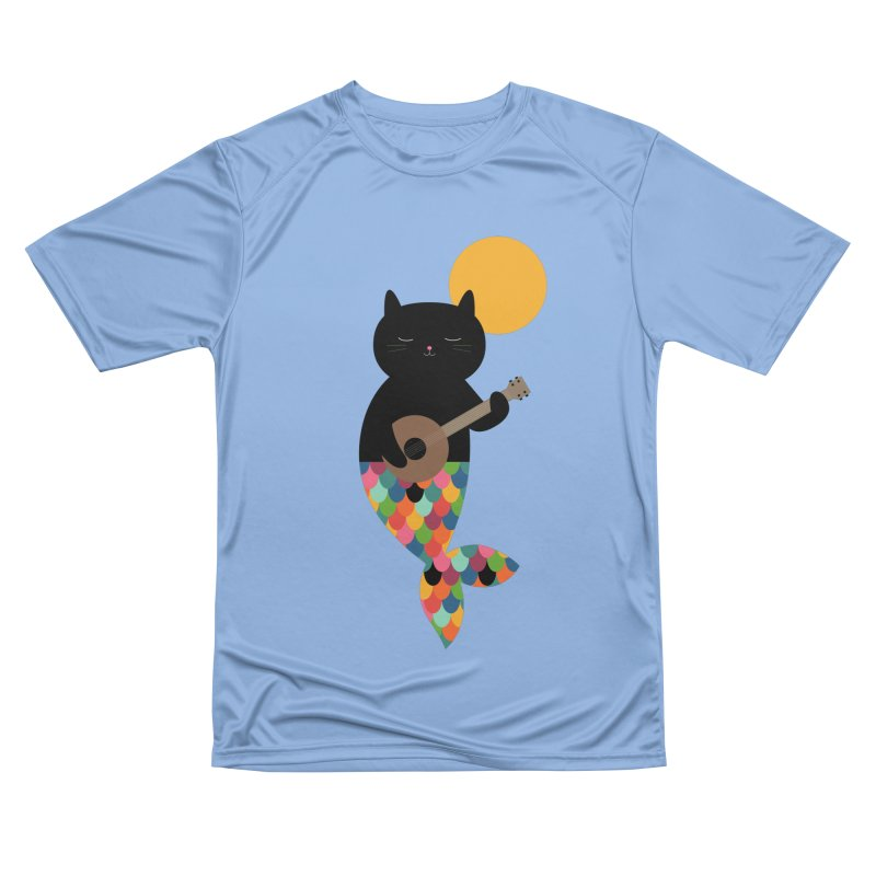 Purrmaid Women's Performance Unisex T-Shirt by andywestface's Artist Shop