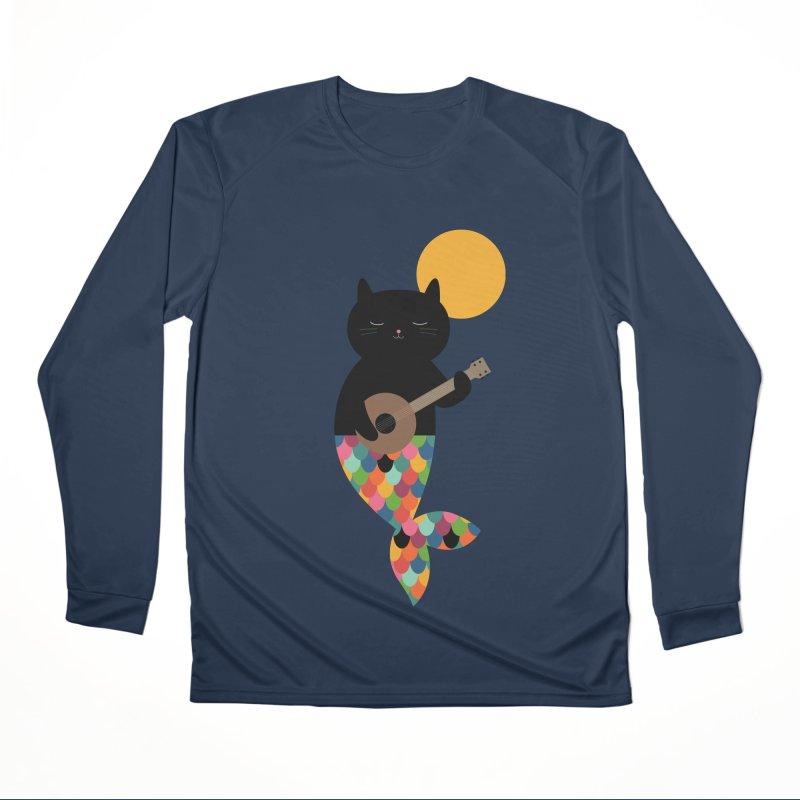 Purrmaid Men's Performance Longsleeve T-Shirt by andywestface's Artist Shop