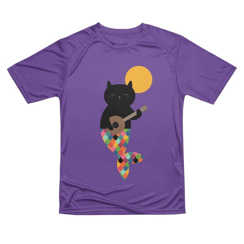 Purrmaid Women's Performance Unisex T-Shirt by andywestface's Artist Shop