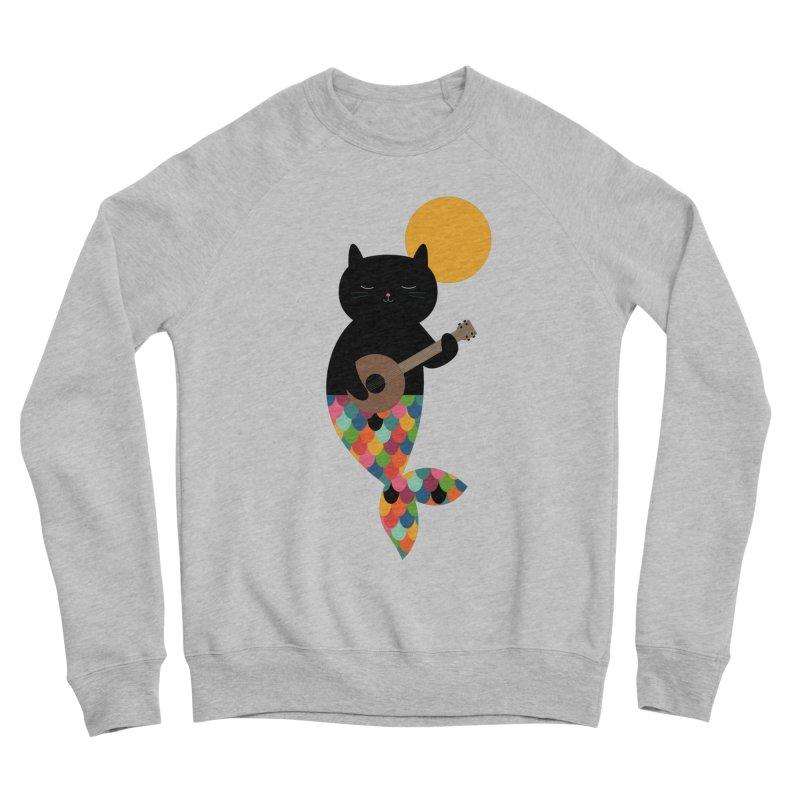Purrmaid Women's Sponge Fleece Sweatshirt by andywestface's Artist Shop