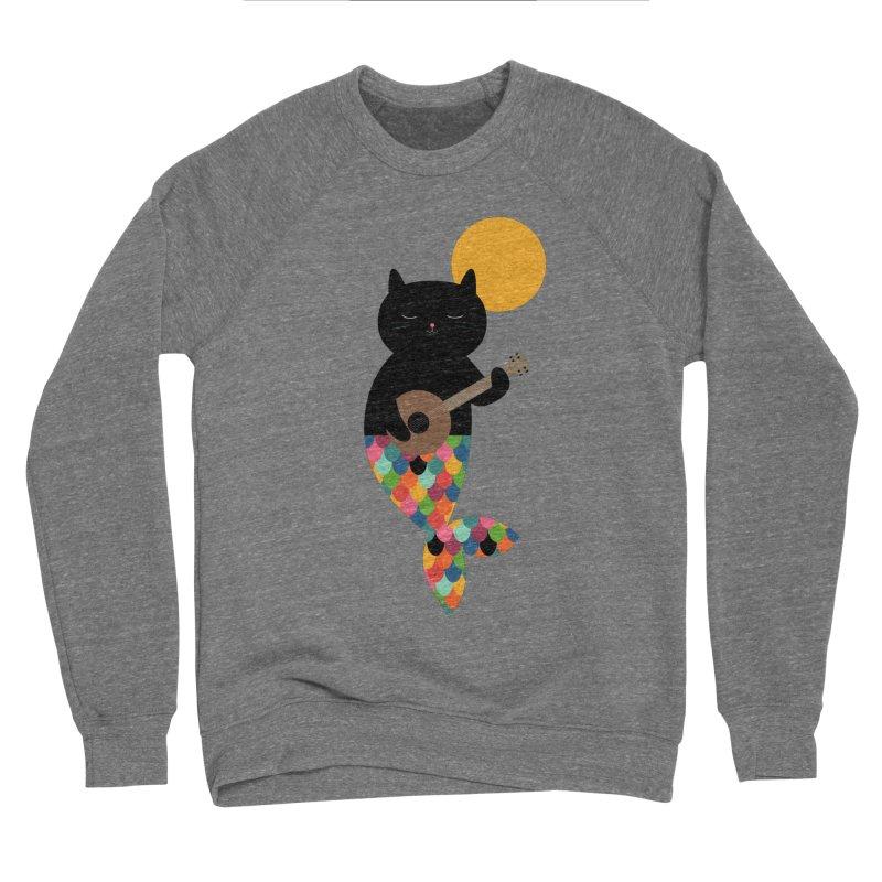 Purrmaid Men's Sponge Fleece Sweatshirt by andywestface's Artist Shop
